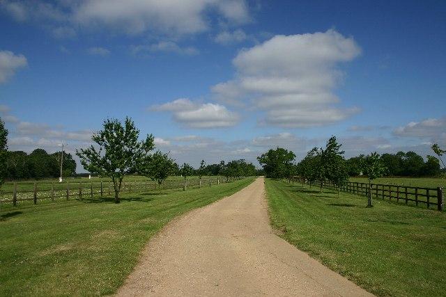 Driveway to Hall Farm, Rushbrooke