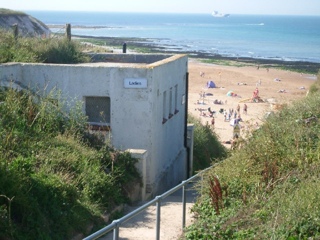 Public conveniences by the steps leading down to Botany Bay