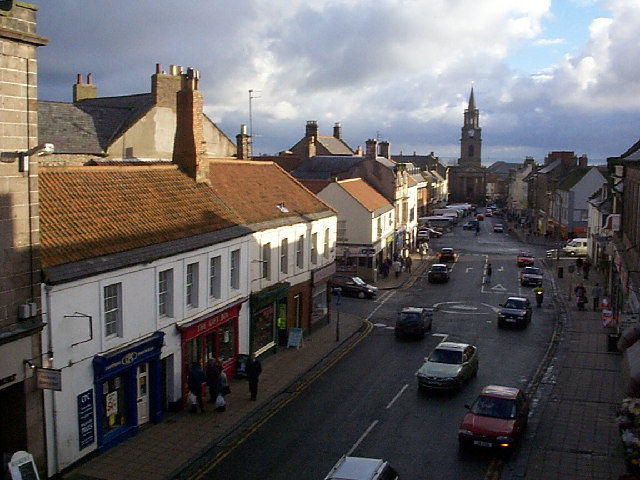 Berwick Town Centre from ramparts