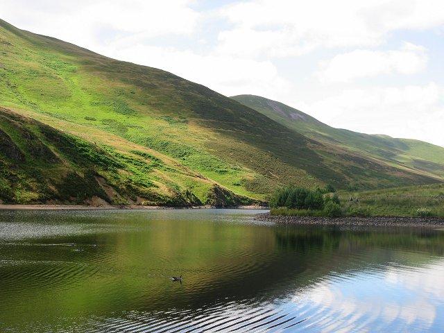 Glencorse Reservoir.