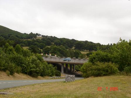 The B5429 as it goes under the A55