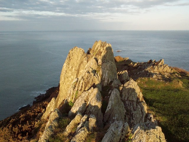 Looking due West from Morte point