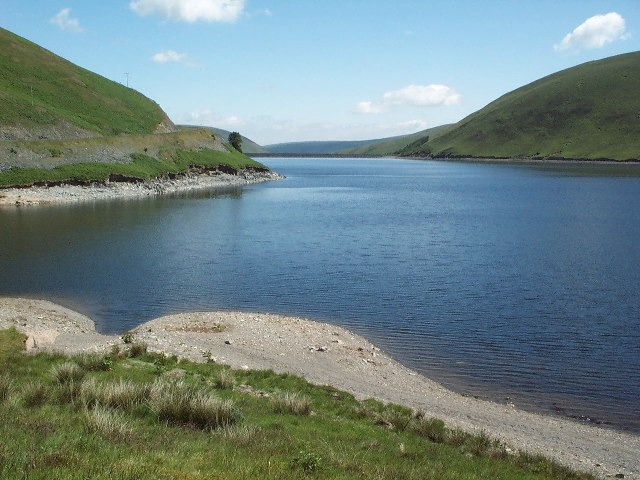 Looking east from Cramalt, Megget reservoir