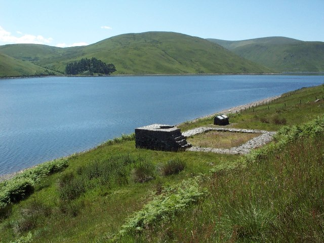 Looking south west from Cramalt, Megget reservoir
