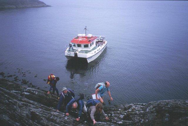 Scrambling ashore