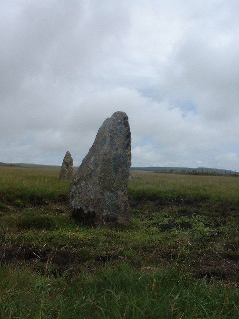 Stone Circle by track on King Arthur's Downs
