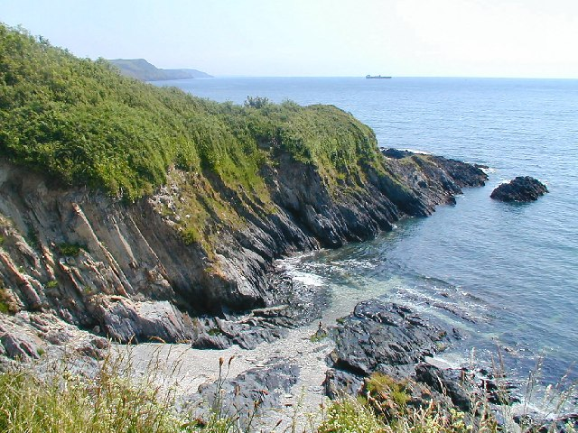 Cliffs near Polridmouth