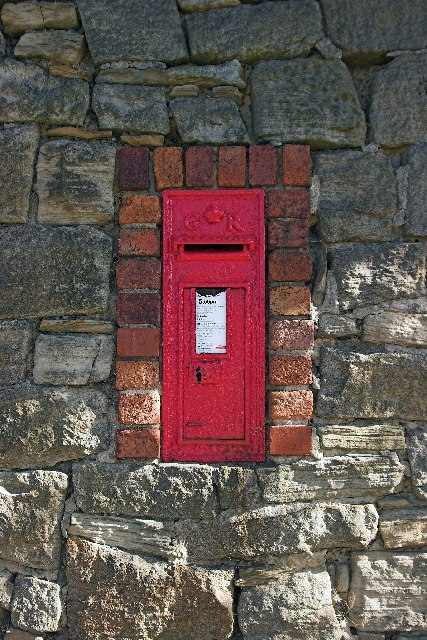 G R Wall Post Box