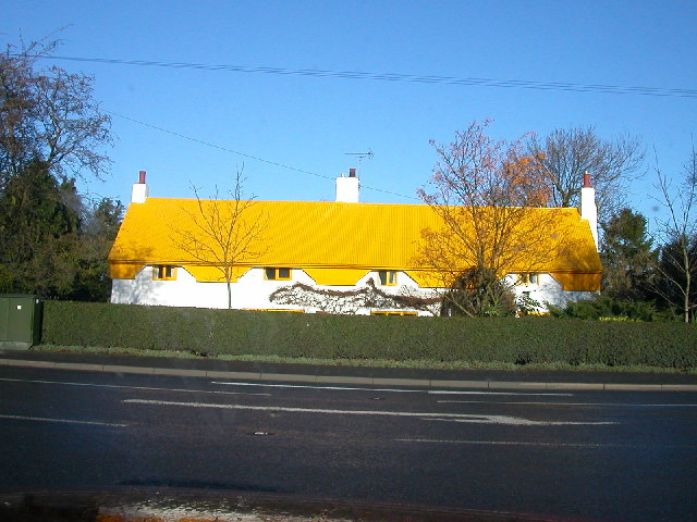 Cottages  on A45 near Thurlaston