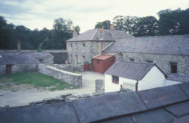 Farm buildings at Llanerchaeron