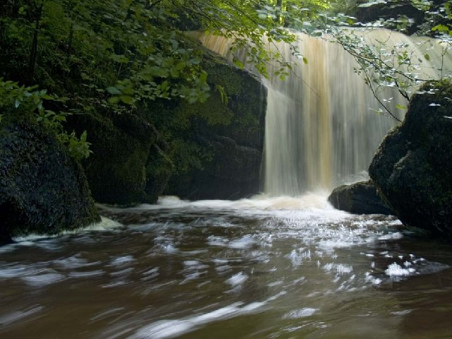 Peaty water at Teckett Linn