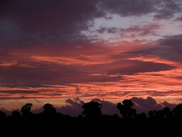Sunset from Newton Red House, near Mitford