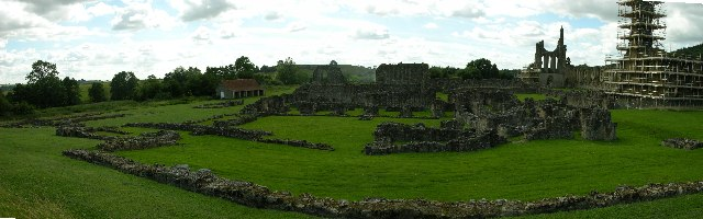 Rear view of Bylands Abbey