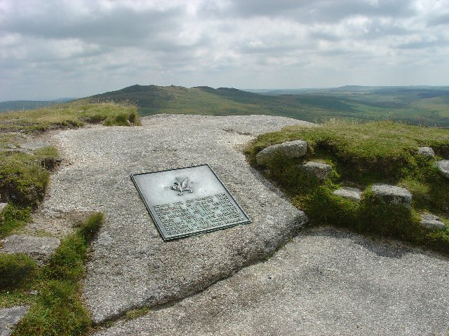 WW2 Memorial to the 43rd Wessex Division, Summit of Rough Tor, Bodmin Moor, Cornwall