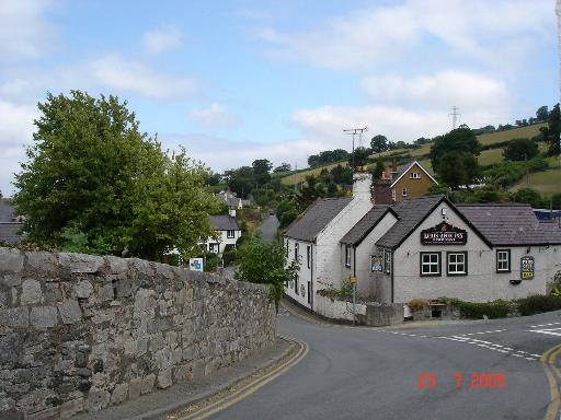 Main road through Betws yn Rhos