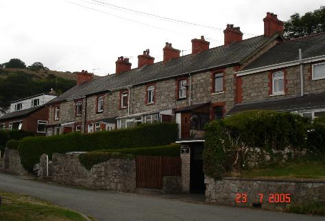 Stone cottages at Rhyd y Foel