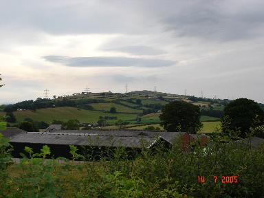 Farm buildings at Bryn y Pin Mawr