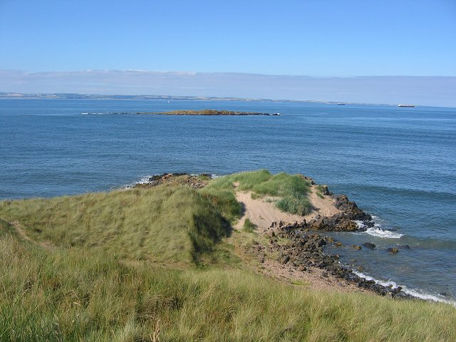 Northern tip of Gullane Dunes.