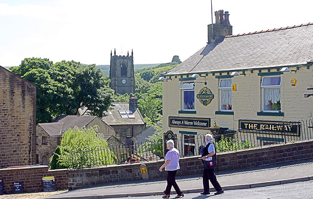 Marsden church and pub