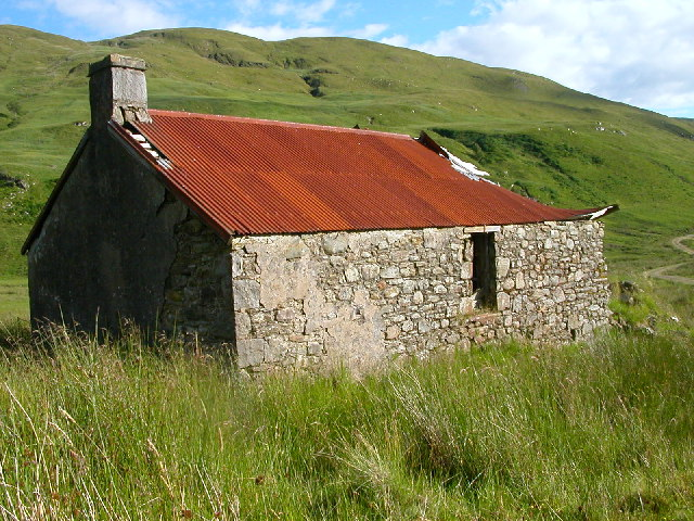 Abandoned Croft house in Gleann na h-Iola