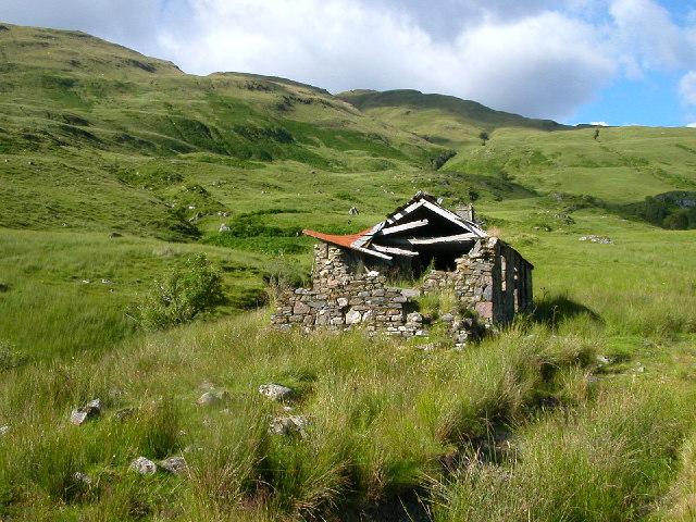 Abandoned Croft house in Gleann na h-Iola