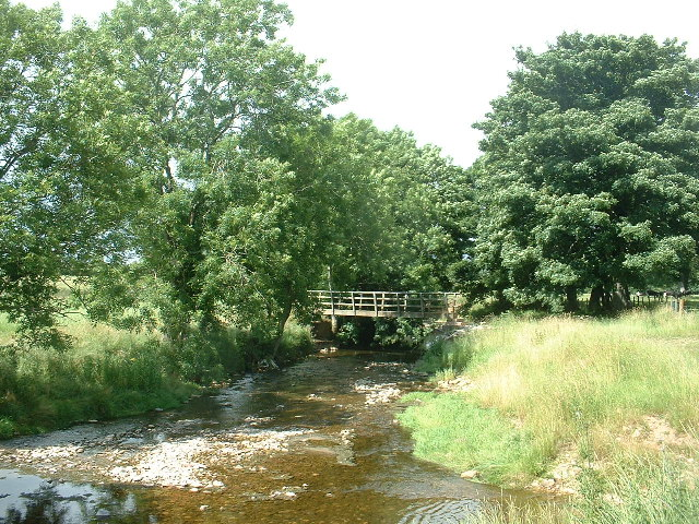 Footbridge, Hoff Beck at Hoff, near Appleby