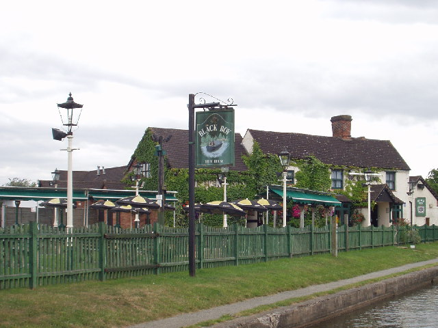 The Black Boy Pub on the Grand Union Canal