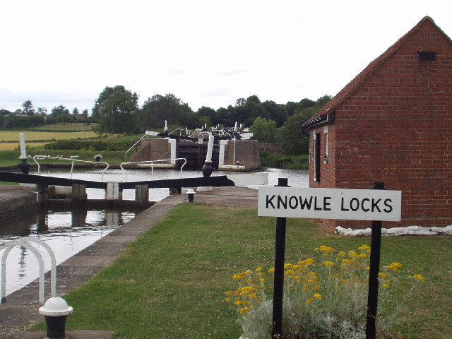 The bottom of Knowle Locks, Grand Union Canal