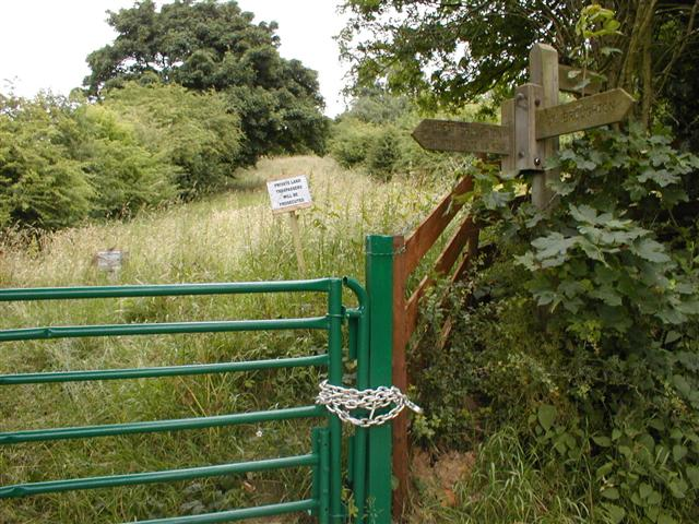 Gate to Private Scrubland