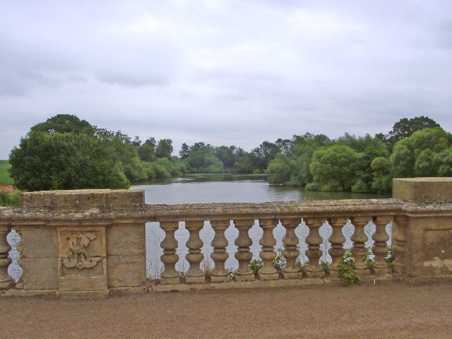 Lake at Harlaxton Manor