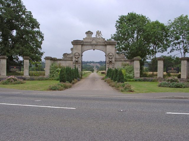 Main gateway, Harlaxton Manor