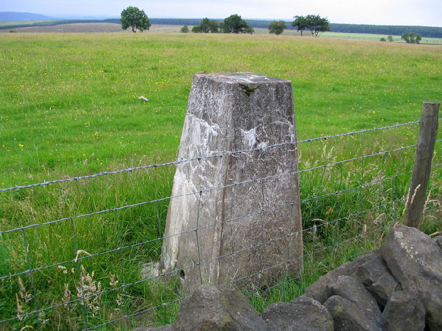 Trig point on Stainburn Moor