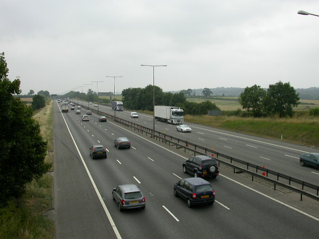 The M1 from a footbridge