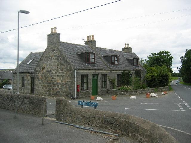 The crossroads at Lyne of Skene
