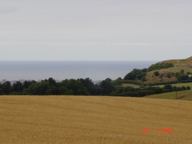 View of farmland towards Prestatyn and the coast