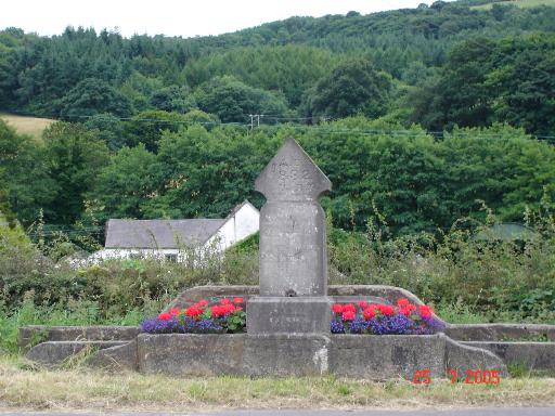 Milepost at Afonwen
