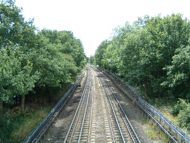 The Central Line looking south towards Buckhurst Hill