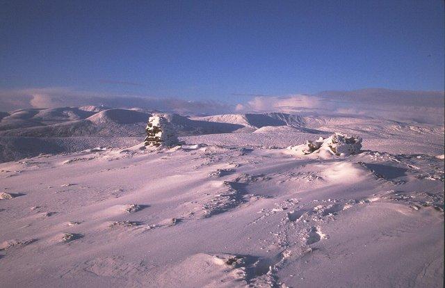 Summit of Carn Loch nan Amhaichean