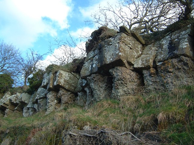 Rocky outcrop on Henallt common Hay-on-Wye