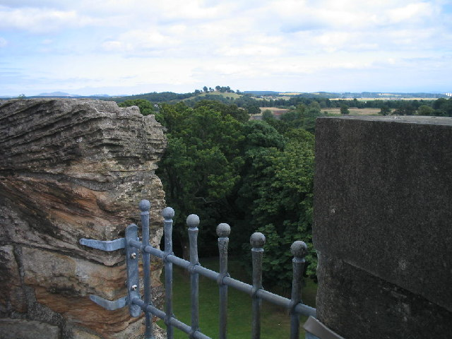 View east from Alloa Tower