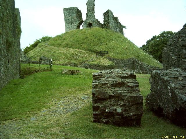 Okehampton Castle 'motte'