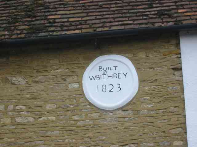 Wall plaque in May Road, Turvey