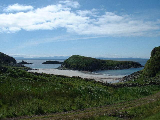 Garbh Eilean and  Kilvickeon Beach, Mull