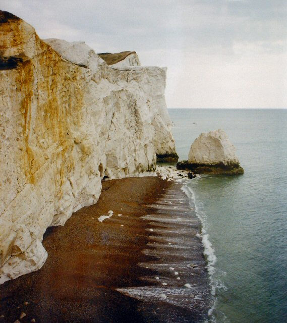Chalk Cliffs Just East of Seaford, East Sussex
