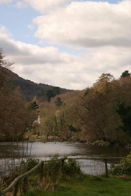 River Dee from the Motor Museum in Llangollen