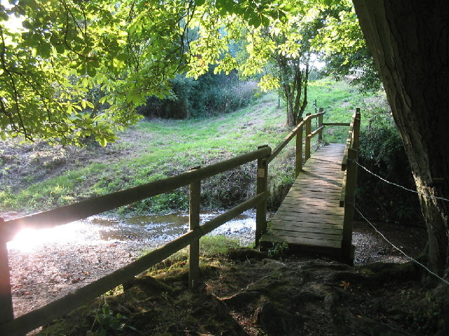 Footbridge over the River Glem near Stansfield