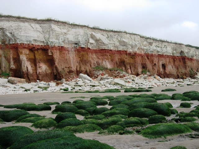 The 'stripy' cliffs at Hunstanton