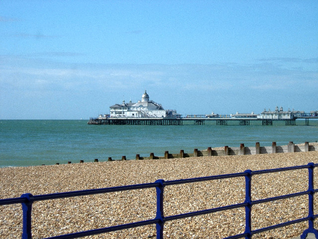 Eastbourne Pier - what a difference a day makes!
