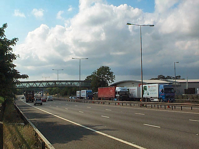 The M1 at Rothersthorpe Services