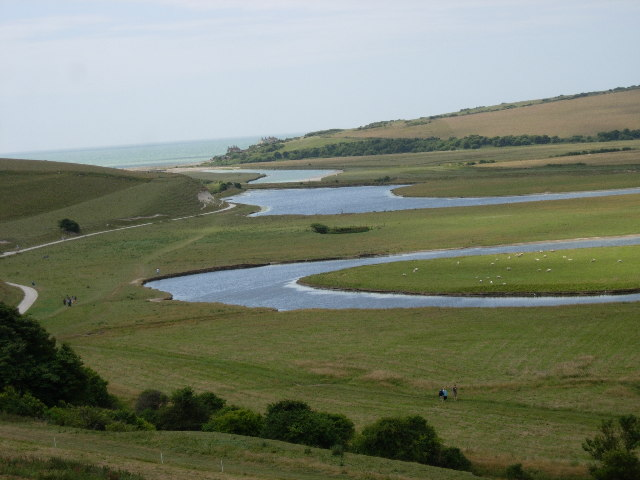 Meanders near the mouth of the Cuckmere